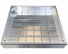 DS-Line 300 x 300 x 48mm Double Sealed Aluminium Recessed Manhole Cover