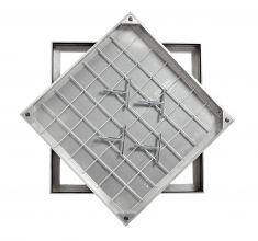 Ultra Thin! TSL-Pro-Line 450 X 450 X 21mm Triple Sealed & Locking Aluminium Recessed Manhole Cover