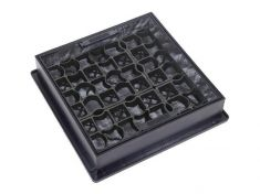 220 to 300 x 80mm Square-to-Round EcoGrid Grass & Gravel Manhole Cover