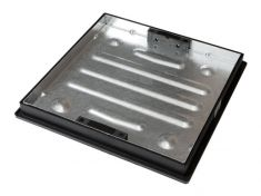 450mm Dia x 43.5mm Square-to-Round, Sealed & Locking Recessed Manhole Cover