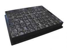 600 x 450 x 80mm EcoGrid Grass & Gravel Recessed Manhole Cover