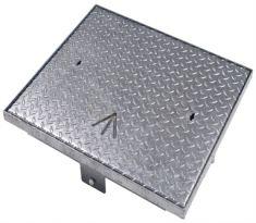 600 x 600 x 100mm FACTA AAA Galvanised Steel Flush Manhole Cover - Badged MOD Pheon - POA