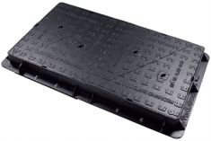 1200 x 675 x 100mm D400 Twin Double-Triangular Ductile Iron Manhole Cover - Badged & Highways Agency Compliant (Price on Application)