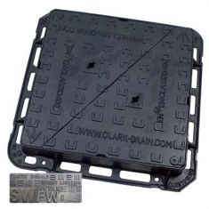 600 x 600 x 100mm D400 Double-Triangular Ductile Iron Manhole Cover - Foul or Storm Water Badging (Price on Application)