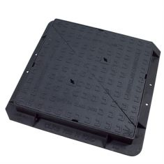 750 x 750 x 100mm D400 Double-Triangular Ductile Iron Manhole Cover - Highways Agency Compliant (Price on Application)