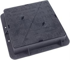 450 x 450 x 100mm D400 Double-Triangular Ductile Iron Manhole Cover