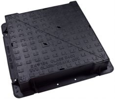 750 x 750 x 150mm High Max D400 Double-Triangular Ductile Iron Manhole Cover - Highways Agency Compliant (Price on Application)