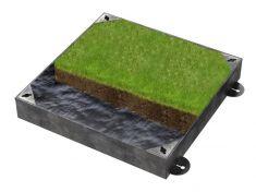 300 x 300 x 100mm GrassTop Recessed Manhole Cover