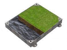 600 x 450 x 100mm GrassTop Recessed Manhole Cover