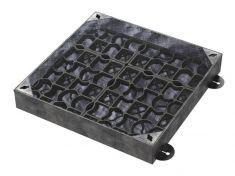 600 x 600 x 100mm EcoGrid Grass & Gravel Recessed Manhole Cover