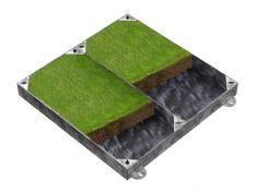 900 x 900 x 100mm GrassTop Recessed Manhole Cover