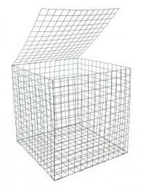 Gabion Basket 0.55 x 0.55 x 0.55m Galfan Coated Welded Mesh - Pack of 10