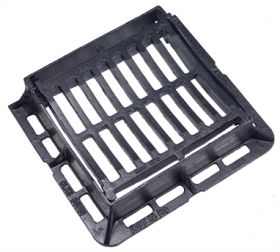 300 x 300 x 75mm B125 Hinged & Dished Gully Grating