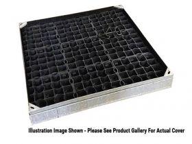 600 x 450 x 100mm EcoGrid Grass & Gravel Recessed Manhole Cover