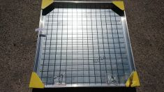DS-Line 1000 x 1000 x 68mm Double Sealed Aluminium Recessed Manhole Cover - Clearance