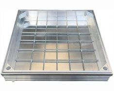 DS-Line 300 x 300 x 48mm Double Sealed Aluminium Recessed Manhole Cover