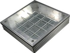 DS-Line 300 x 300 x 68mm [80mm Depth] Double Sealed Aluminium Recessed Manhole Cover