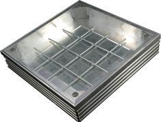 TSL-Pro-Line 400 x 400 x 61mm [80mm Depth] Triple Sealed & Locking Aluminium Recessed Manhole Cover