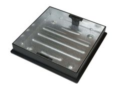 450mm Dia x 80mm Square-to-Round  Recessed Manhole Cover for Patios, Driveways, Paving & Flagging