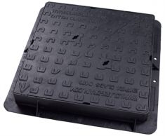 675 x 675 x 100mm D400 Double-Triangular Ductile Iron Manhole Cover - Highways Agency Compliant