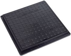 220 to 300 x 37mm Square-to-Round Solid Top Manhole Cover