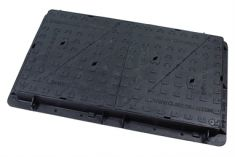 1200 x 675 x 100mm D400 Multi-Triangular Ductile Iron Manhole Cover - Highways Agency Compliant