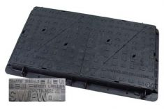1200 x 675 x 100mm D400 Multi-Triangular Ductile Iron Manhole Cover - Foul or Storm Water Badging (Price on Application)