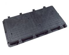 1500 x 750 x 100mm D400 Quad-Triangular Ductile Iron Manhole Cover - Highways Agency Compliant (Price on Application)