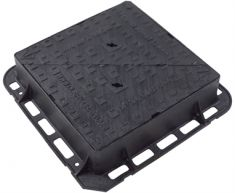 600 x 600 x 150mm D400 Double-Triangular Ductile Iron Manhole Cover (Price on Application)