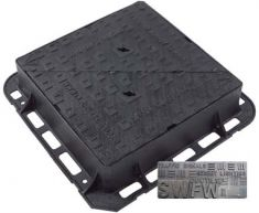 600 x 600 x 150mm D400 Double-Triangular Ductile Iron Manhole Cover - Foul or Storm Water Badging (Price on Application)