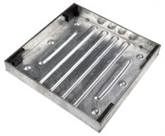 New Fully Galvanised 600 x 600 x 80mm Recessed Manhole Cover for Patios, Driveways, Block Paving & Flagging