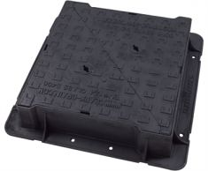 600 x 600 x 150mm High Max D400 Double-Triangular Ductile Iron Manhole Cover - Highways Agency Compliant (Price on Application)