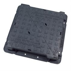 600 x 600 x 100mm High Max D400 Double-Triangular Ductile Iron Manhole Cover - Highways Agency Compliant (Price on Application)