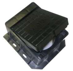 100.5 x 75mm Hinged & Locking Surface Box - Badged Water