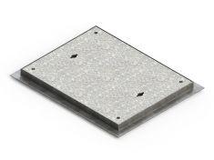 600 x 450 x 40mm Sealed & Locking Pedestrian Solid Top Manhole Cover - Alt PC6AG3