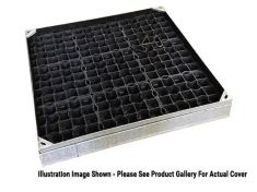 600 x 450 x 80mm EcoGrid Grass & Gravel Recessed Manhole Cover - Fully Galv Option