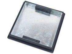 220 to 300 x 43.5mm Square-to-Round, Sealed & Locking Recessed Manhole Cover