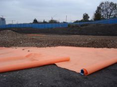 Hi-Vis Ground Contamination Orange Geotextile Membrane Full Roll 4.5 x 100m